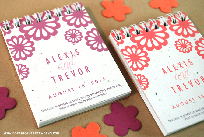 NEW Floral Notepad Favors from Botanical PaperWorks