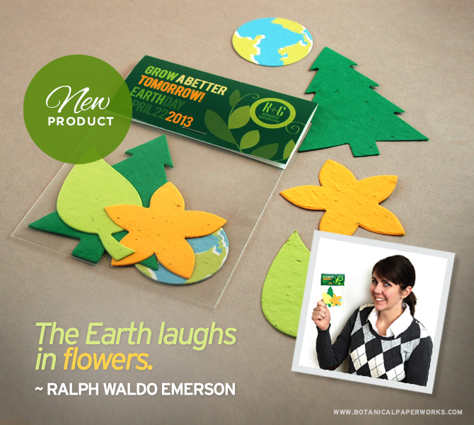 Nature Shape Packs - a fun green promotion for Earth Day and everyday