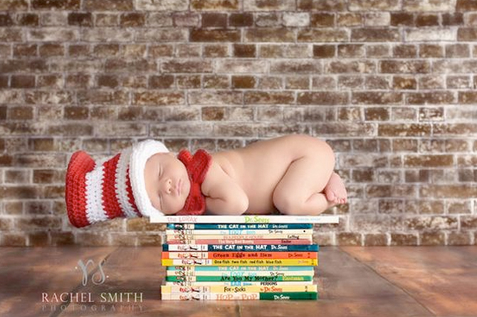 Get tons of cute ideas to take the perfect new baby photo for your birth announcements.