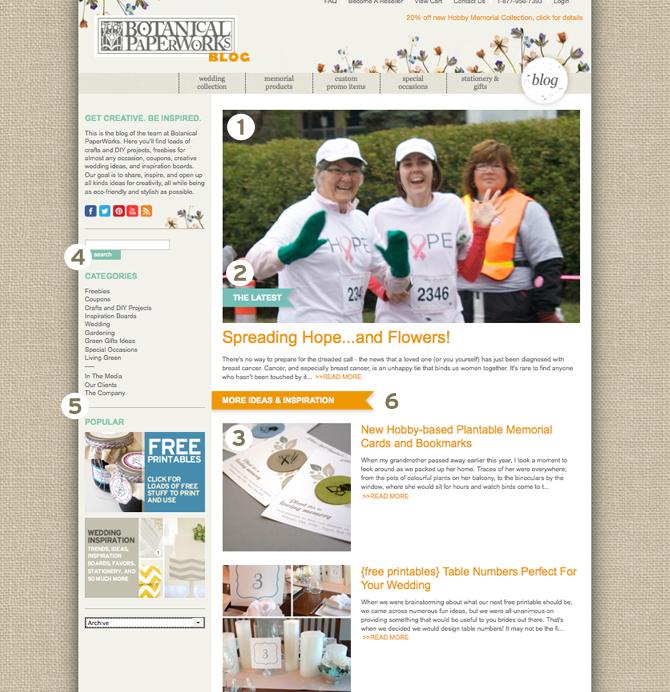 Botanical PaperWorks Unveils New Blog Design