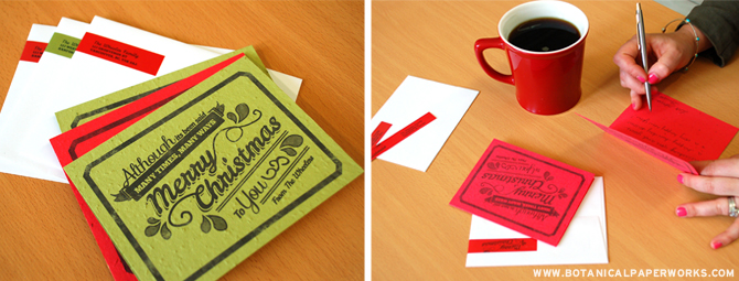 Botanical PaperWorks plantable stationery can now be personalized! Send a personal greeting and the gift of flowers!