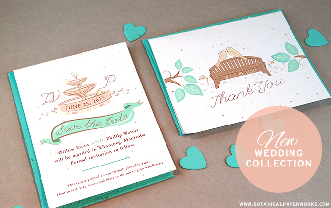 Love this charming Plantable Park Birds Wedding Collection.