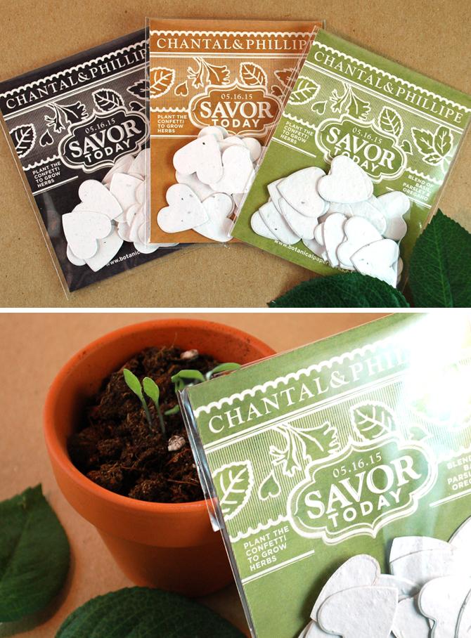 Our New Vintage Garden Herb Confetti Favor