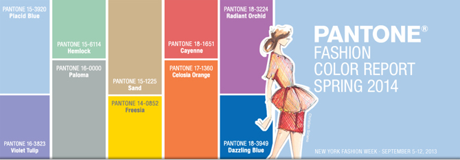 Pantone's Gorgeous new Spring 2014 Color Report.