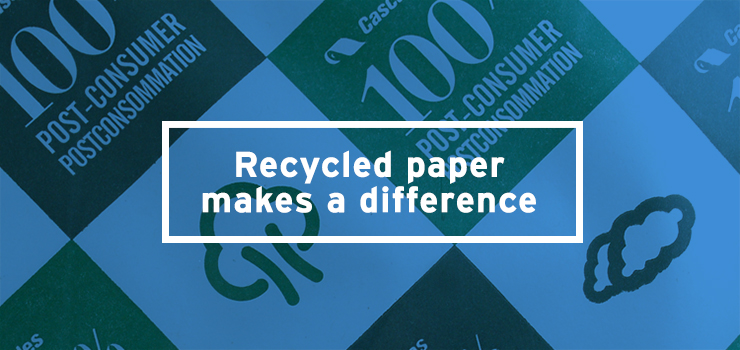 See how big a difference choosing recycled paper products can make.
