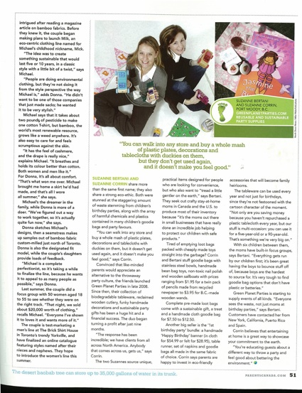 Parents Canada featuring interview with Botanical PaperWorks' president Heidi Reimer-Epp