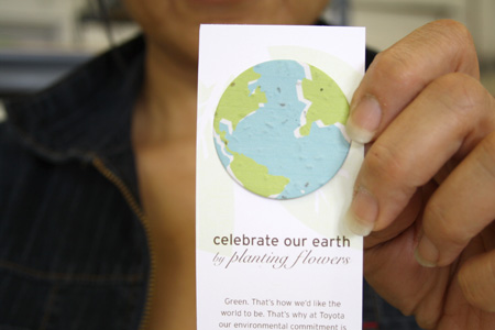 earth day seed paper bookmark
