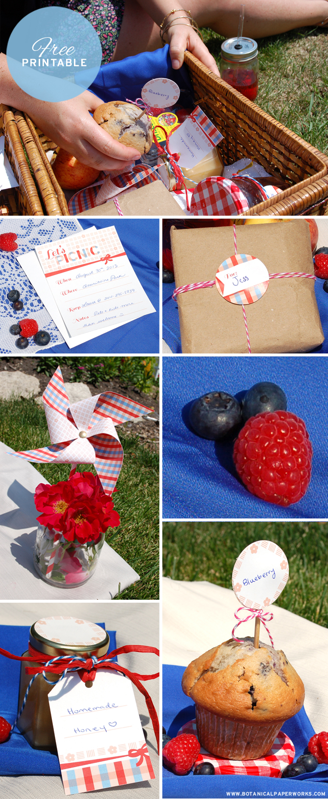 Love all the fun pieces this Picnic Free Printable from Botanical PaperWorks includes - super cute!