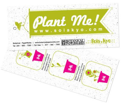 Soia & Kyo featuring plantable gift tag