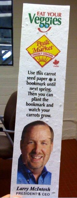 Peak of the Market featuring plantable bookmarks