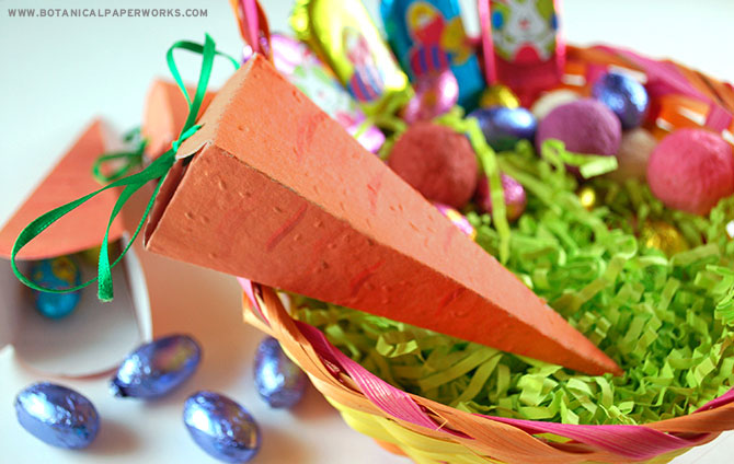 These plantable Easter carrot boxes teach kids about sustainability and planting in fun & creative way!