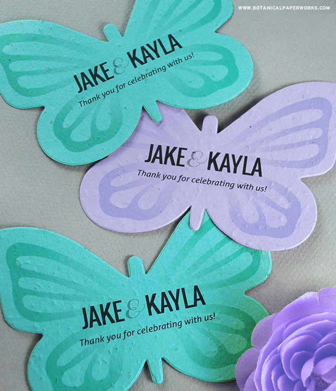 Learn about how these Butterfly Plantable Shape Wedding Favors will grow wildflowers to benefit birds, bees and other insects.
