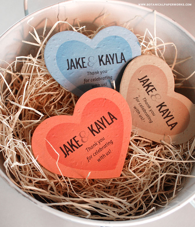 From your heart to theirs. Find out how these Heart Plantable Shape Wedding Favors gift your guests with more than just a pretty shape!