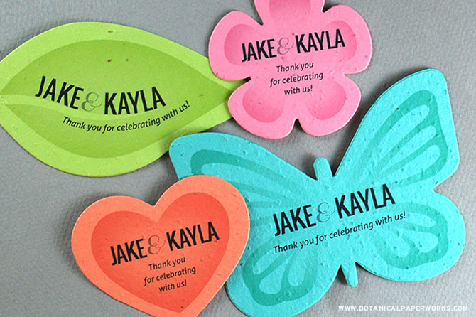 Learn how you can plant these NEW Plantable Shapes Wedding Favors and gift your guests with a bundle of blooms!