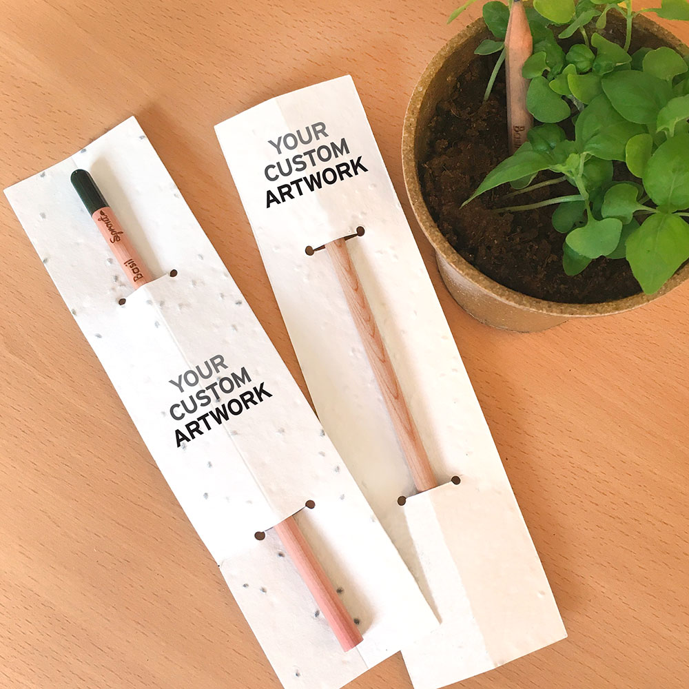 Showcase your full-color branding and message with his eco-friendly Plantable Sprout Pencil With Basil Seed Paper.
