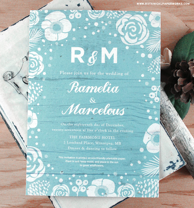 These Winter Wonderland Seed Paper Wedding Invitations feature nature details like pinecones and berries for a look that's perfect for rustic winter weddings. See MORE from our new #ecofriendly collection now.