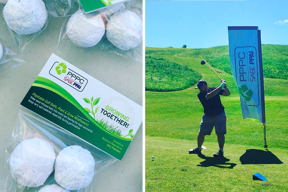 plantable seed paper golf balls promotional product