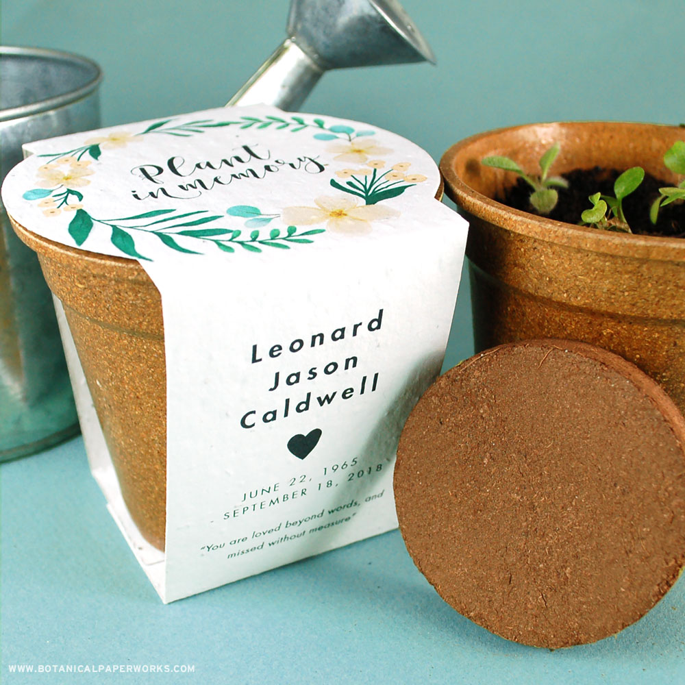 Celebrate their life by planting and growing flowers with these beautiful Memorial Planting Kits.