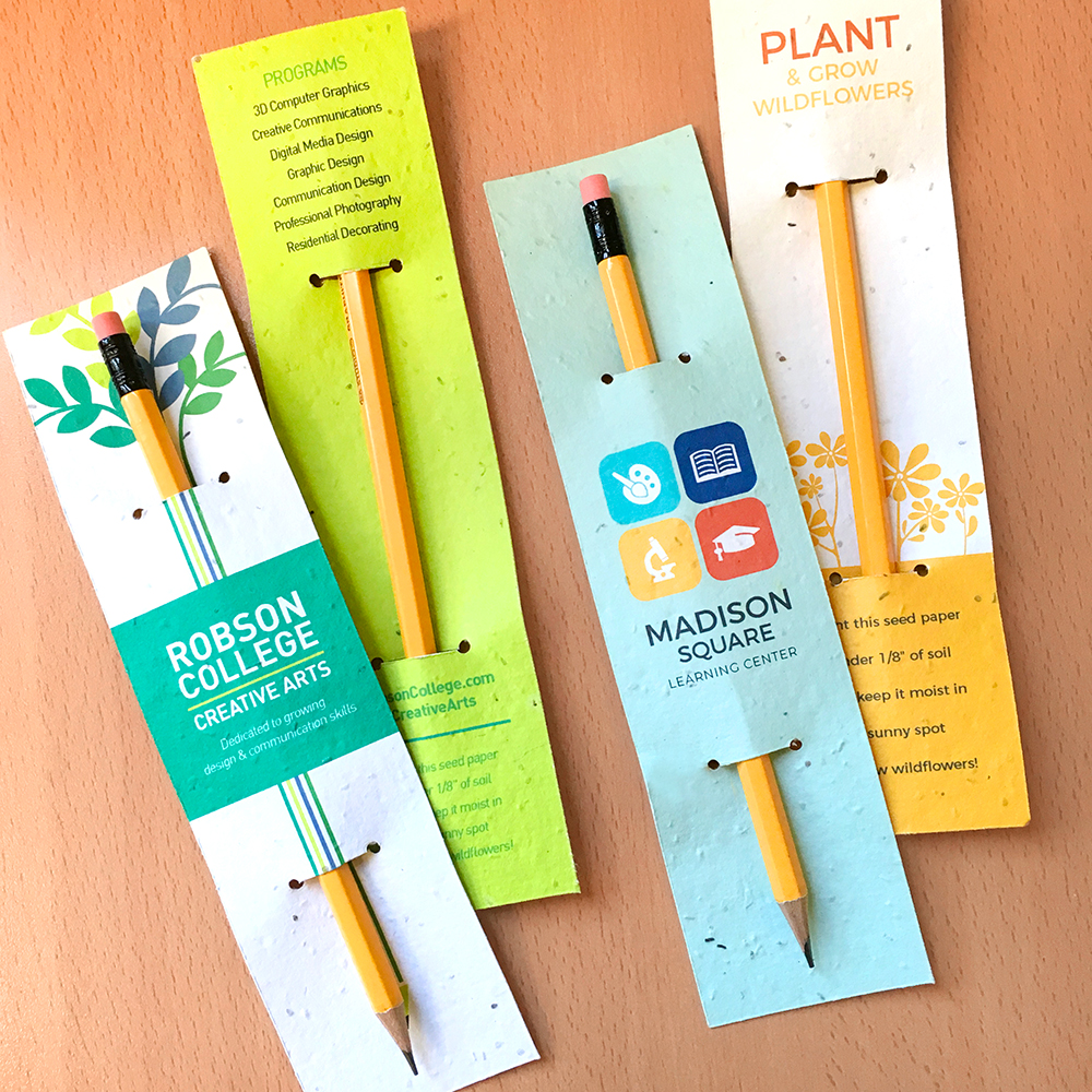 Add your full-color custom design and logo to these Plantable Pencil Sleeves to make your pencil promotion extra special.