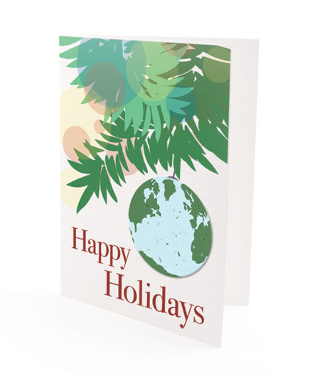 Plantable Earth Personalized Christmas Card