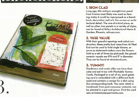 plantable yummy cards set