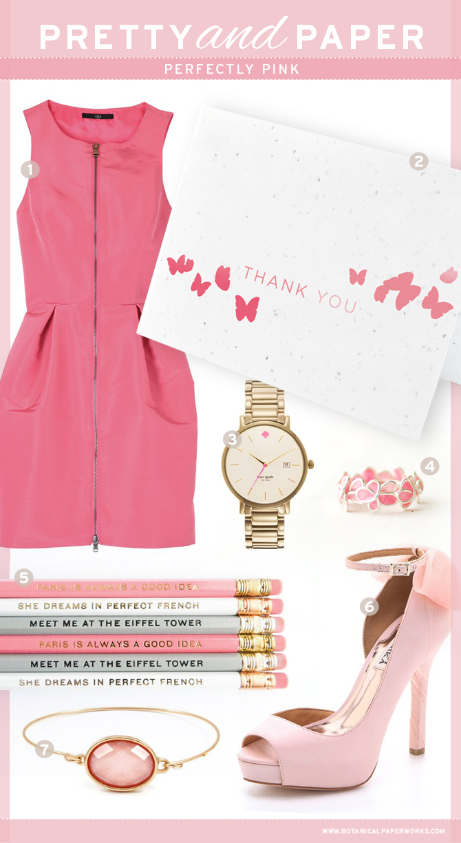 Perfectly Pink Inspiration Board from Botanical PaperWorks