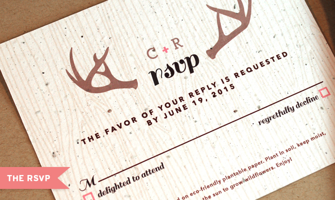 Plantable Wedding RSVP By Botanical PaperWorks