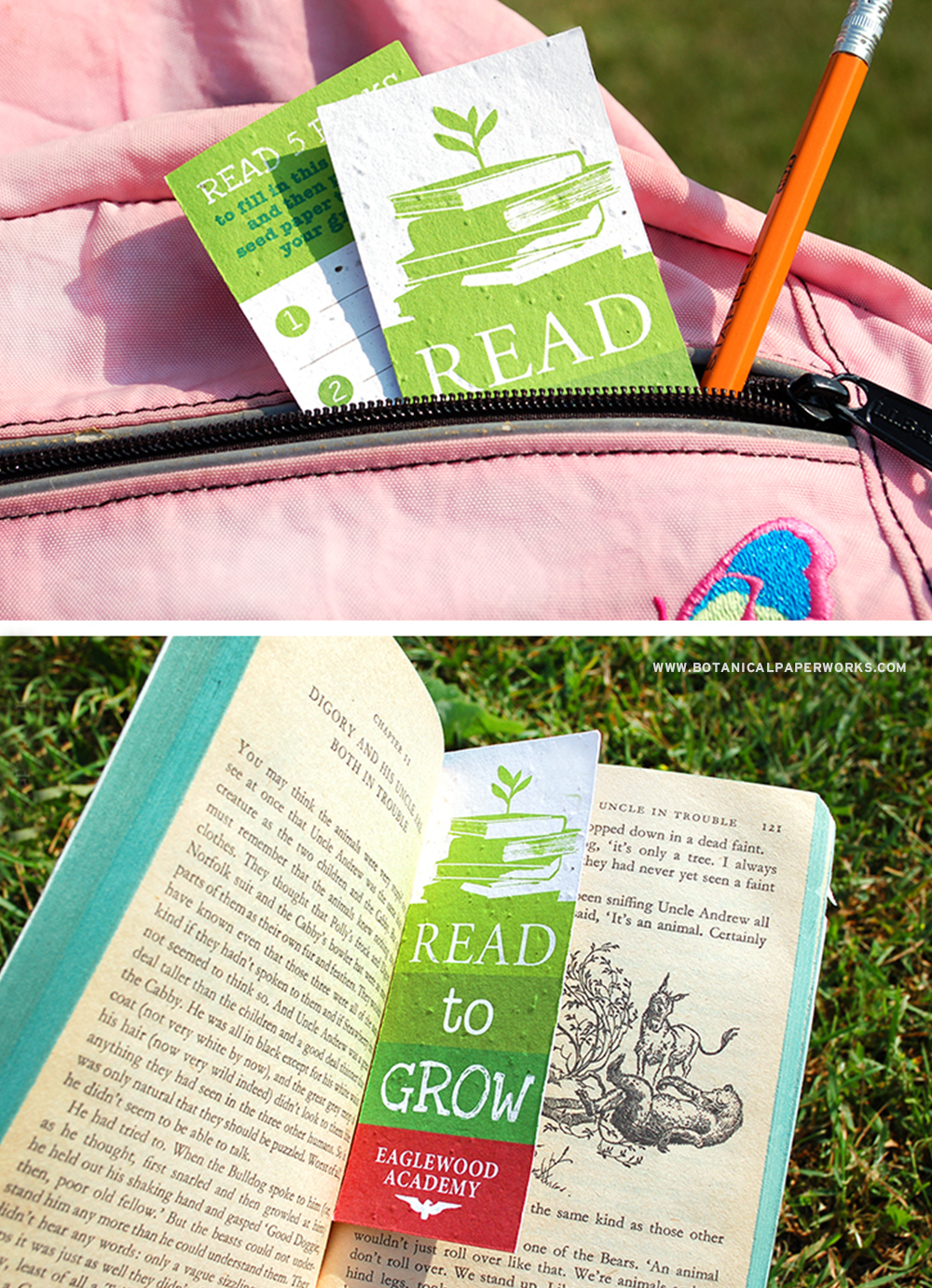 Teach kids the importance of reading and send an eco-friendly message with seed paper bookmarks for schools.