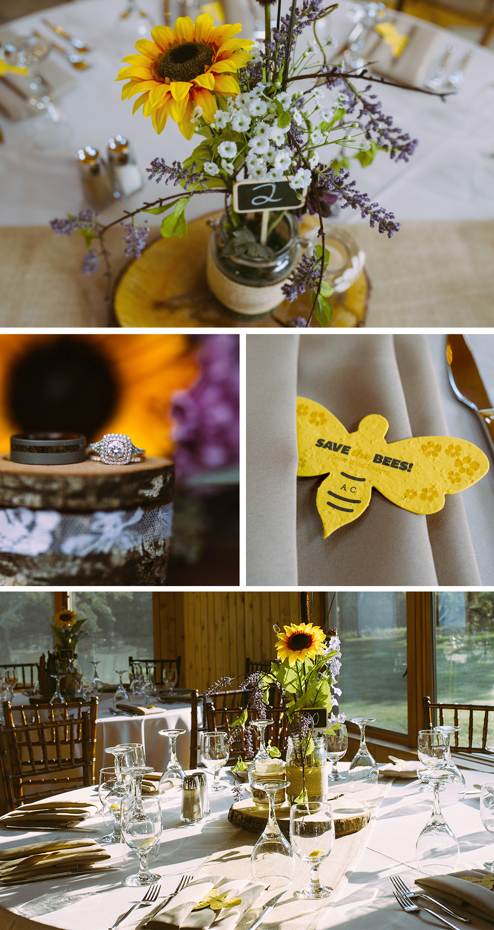 seed paper featured in wedding decor