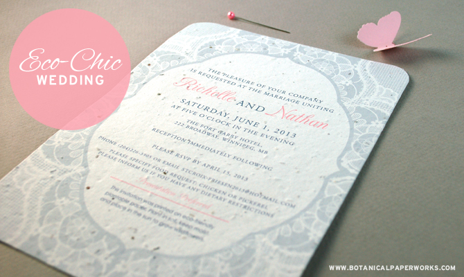 Proving that you don't have to compromise on style when planning an eco-friendly wedding.