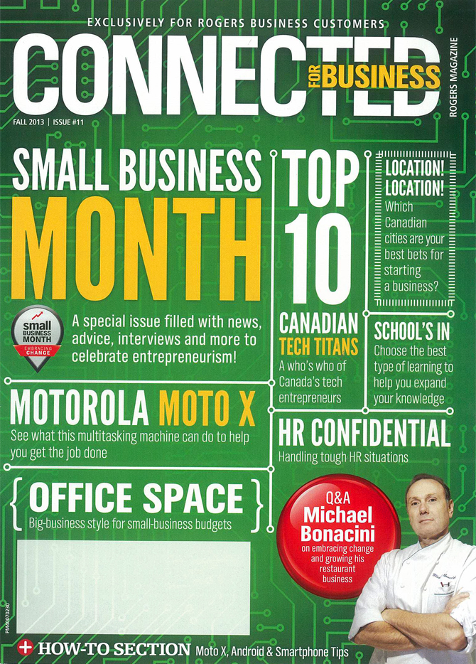 Rogers Connected For Business Magazine - Fall 2013 Cover