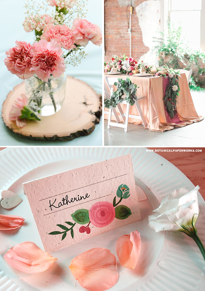 A symbol of romance, love and joy, flowers have the power to beautify any space with their soft petals, lush greenery and captivating fragrance. Take a look at our NEW Romantic Floral #SeedPaper #Wedding Collection now - the pieces grow REAL wildflowers! #ecofriendlywedding