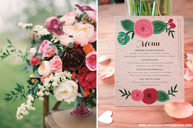 When you dress up your #wedding theme with details like the Romantic Floral Seed Paper Menu Cards, you'll be able to add even more floral elegance in a way that'll make the ambiance warm and timeless. #brides #ecofriendlywedding