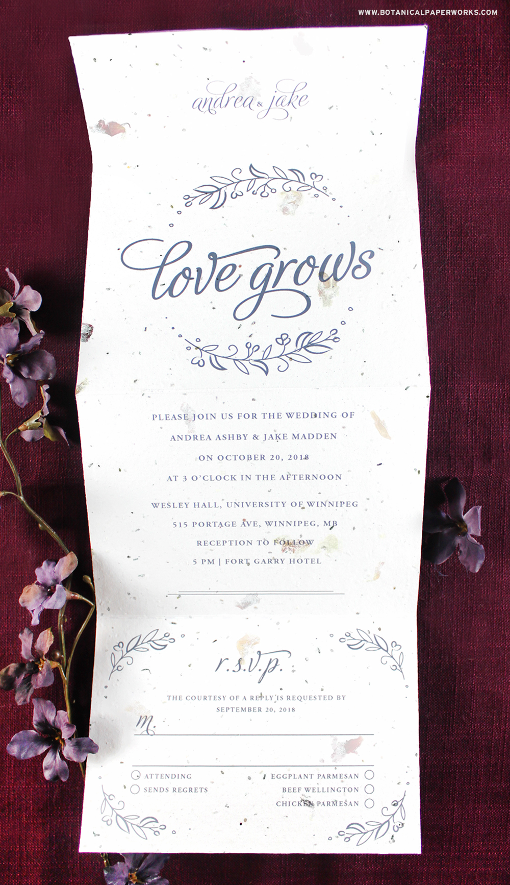 Learn more about the NEW Seeds Of Love Seal and Send Wedding Invitations that reduce waste and are super easy to send!