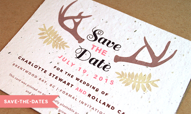 Plantable Save The Date Card From Botanical PaperWorks