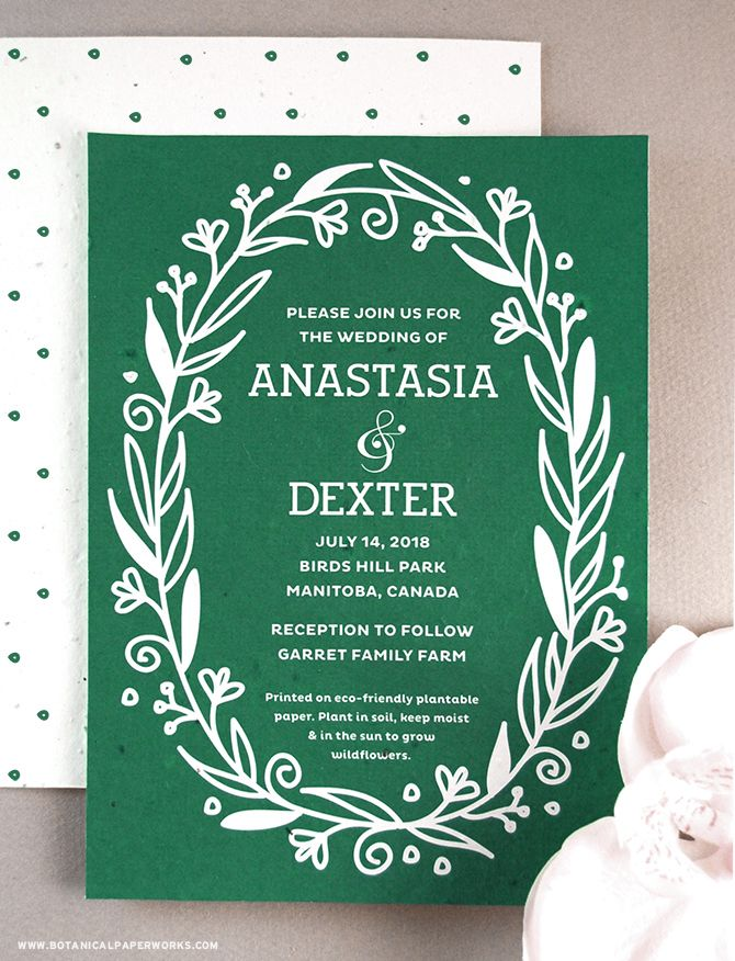 These incredibly unique and #ecofriendly Fancy Vintage #SeedPaper #WeddingInvitations are a beautiful and unexpected way to use wildflowers at your #wedding! #vintage