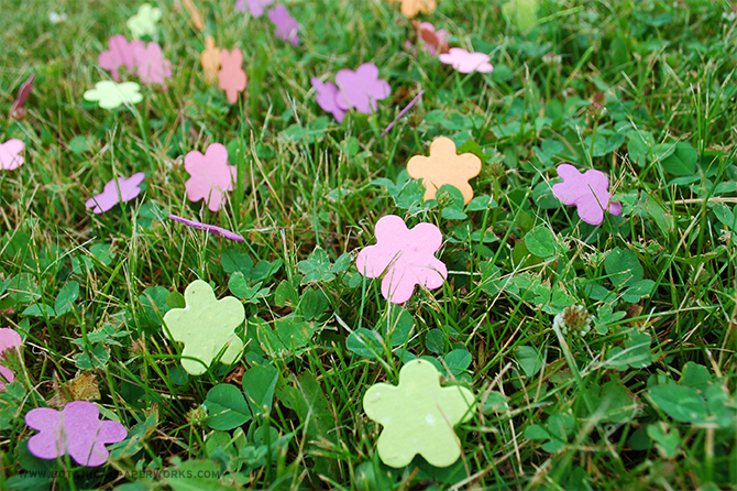 One of the best uses for Seed Paper Confetti is by sprinking them on the grass for outdoor weddings. They will compost away leaving a gorgeous garden of wildflowers!