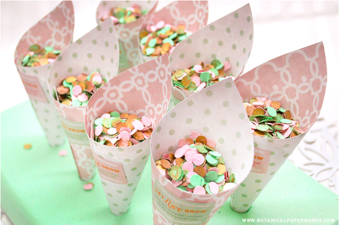 Instead of the traditional rice or bubbles, have your wedding guests throw colourful and plantable Seed Paper Confetti as you take your first journey as a married couple!