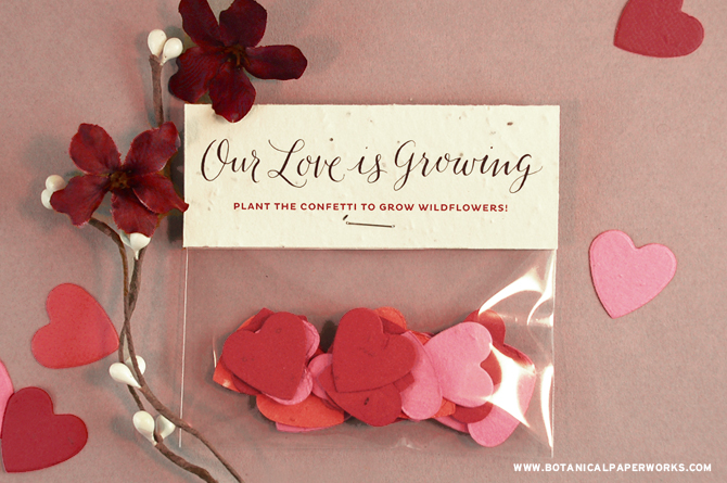 This DIY Wedding Confetti Favor is an easy and beautiful way to incorporate eco-friendly Seed Paper Confetti into your big day!