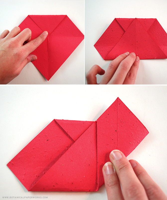 Take a look at these easy and #ecofriendly #Origami seed paper #ValentinesDay hearts that can be used for candy, gift cards or love letters while giving recipients an additional gift that grows! #craft