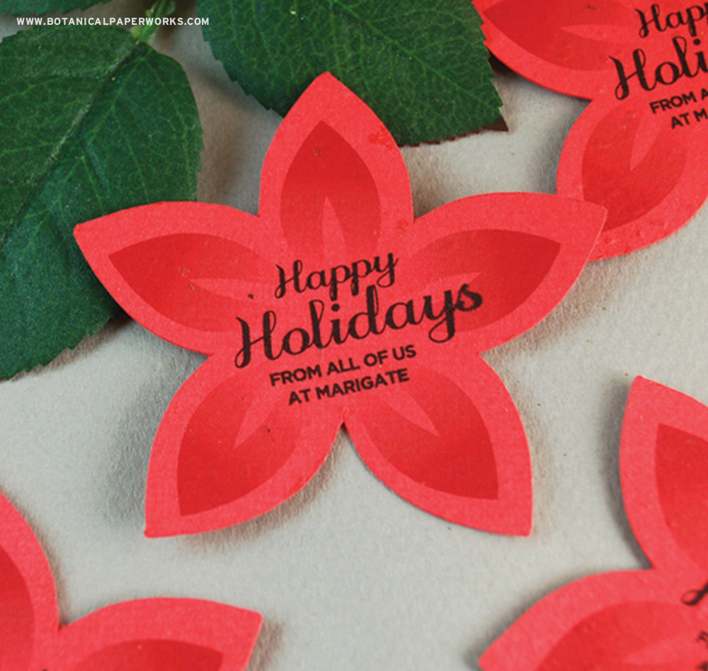 Whether they're used for a restaurant, a small boutique or a financial institution, the Modern Flower Seed Paper Printed Shapes are a fantastic way to capture recipients attention during the holidays.