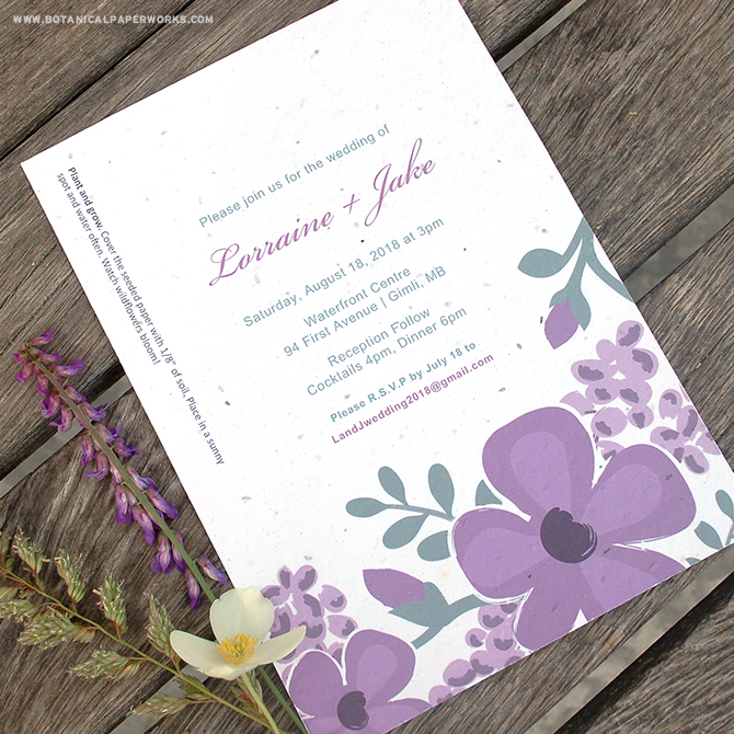 Find out more about our budget-friendly AND eco-friendly Seed Paper Printable Wedding Invitation Kits.