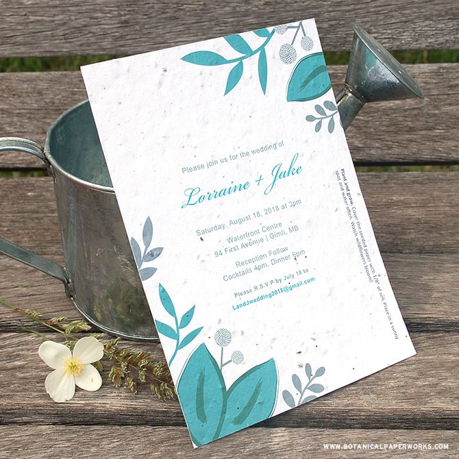 See how you can make your invitations just the way you want them with our Seed Paper Printable Wedding Invitations Kit.