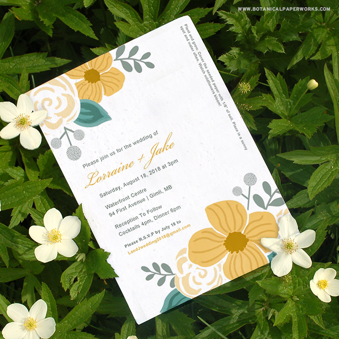These DIY seed paper wedding invitations are perfect for budget-conscious couples who want a beautifully designed invitation that's 100% eco-friendly.