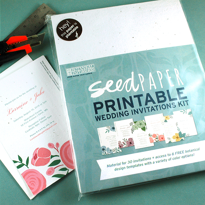 These DIY seed paper wedding invitations are perfect for eco-conscious couples on a budget. Learn how fun and easy it is!