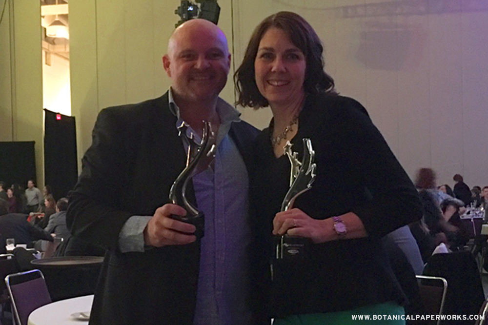 Seen here is Heidi Reimer-Epp with Scott Shippam, a Winnipeg promo distributor at Shippam and Associates Inc. It's so exciting to have two Winnipeg-based winners at the PPPC Image Awards!
