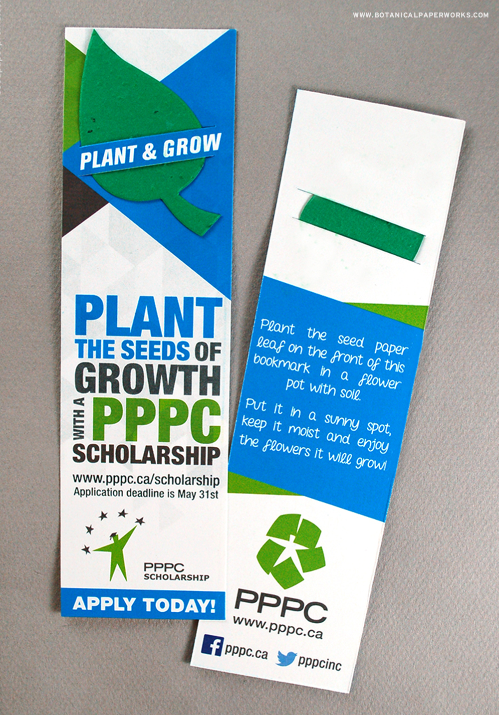 See how the PPPC used Seed Paper Promotional Products to promote their scholarship program in a unique way.