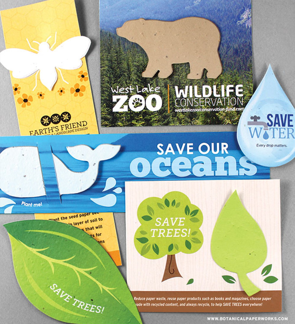 Be a part of a conversation about CONSERVATION with these all NEW seed paper promotional products.