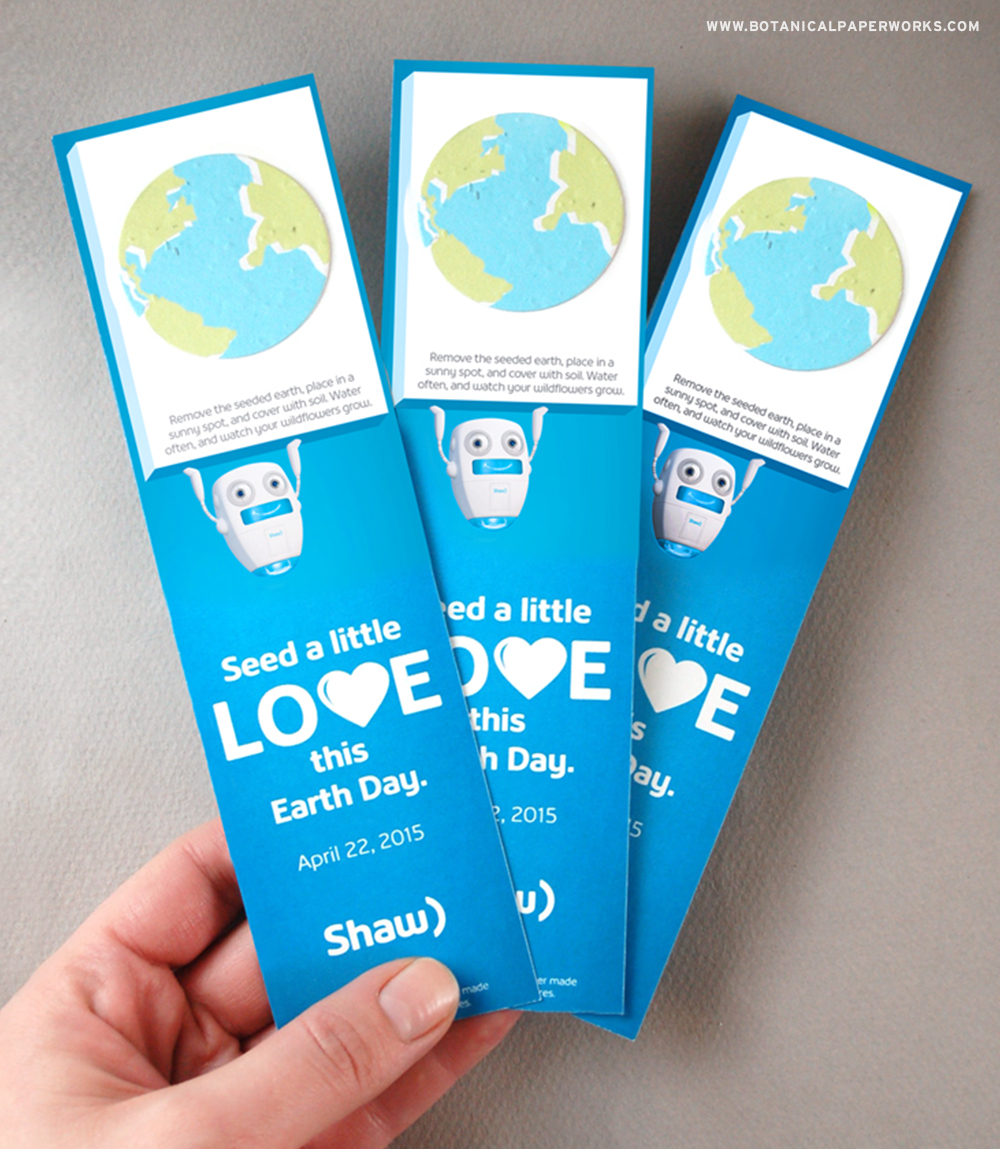 Take a look at how these clever Seed Paper Bookmarks sent a GREEN message for Earth Day and won SILVER at the 2016 Image Awards!