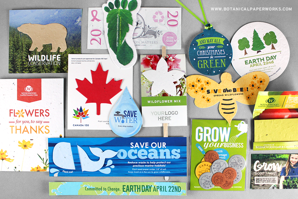 There is a huge variety Seed Paper Promotions to suit your brand.  Learn more about how they help businesses GROW.